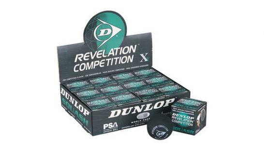 Squashové míčky Dunlop - REVALATION COMPETITION XT